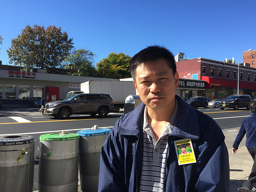Hsi-Pei Liao at the intersection where his daughter was killed.