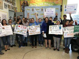 Make the Road Activists Tell Legislators: Get Progressive on Jobs, Drivers Licenses, Rent Control and More!