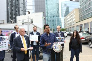 Van Bramer and Transportation Advocates Demand End to Sidewalk Parking and Placard Abuse
