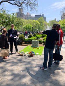 Gravesites in Washington Square Park Bring Awareness to City's Opioid Crisis